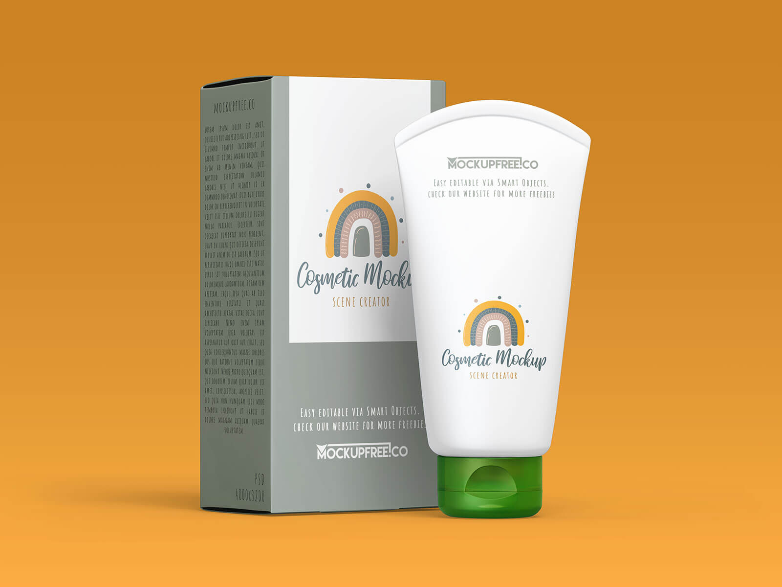 Free Kids Shampoo Bottle & Cream Tube Mockup PSD Set