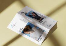 Free Sunny Bi-Fold DL Flyer Mockup PSD