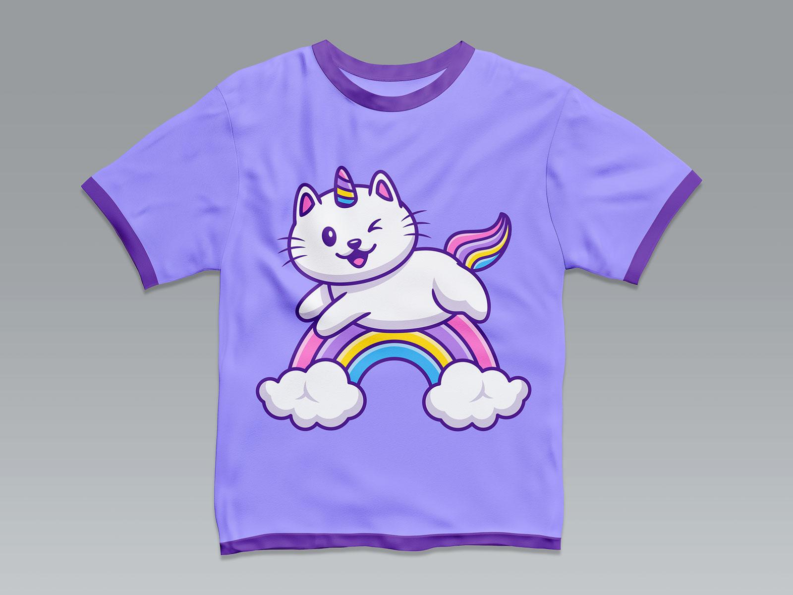 Free Kids Short Sleeves Tee Mockup PSD Set