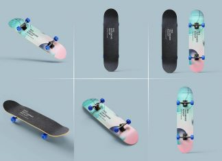 Free Skateboard Mockup PSD Files