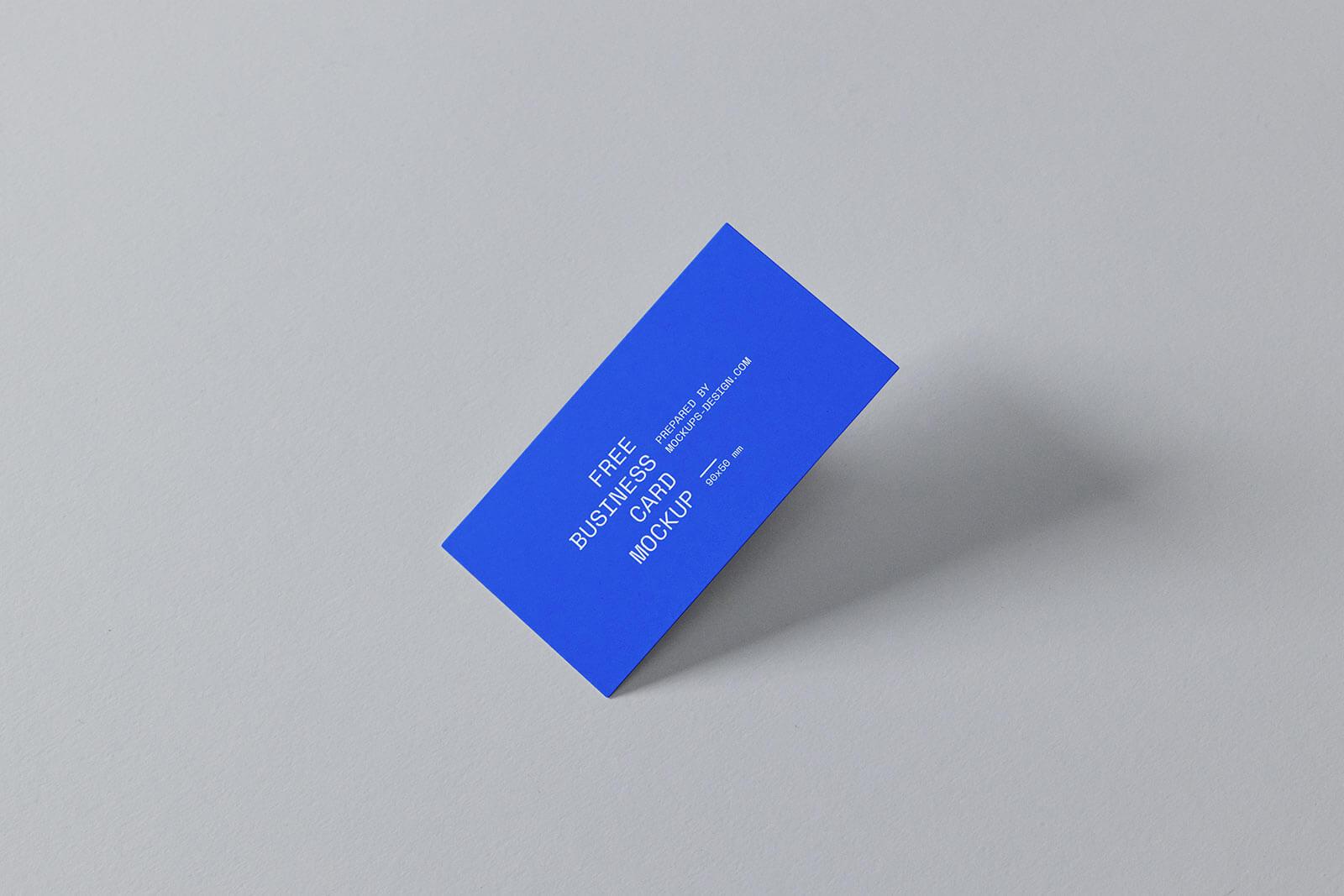 90 x 50 mm Business Card Mockup