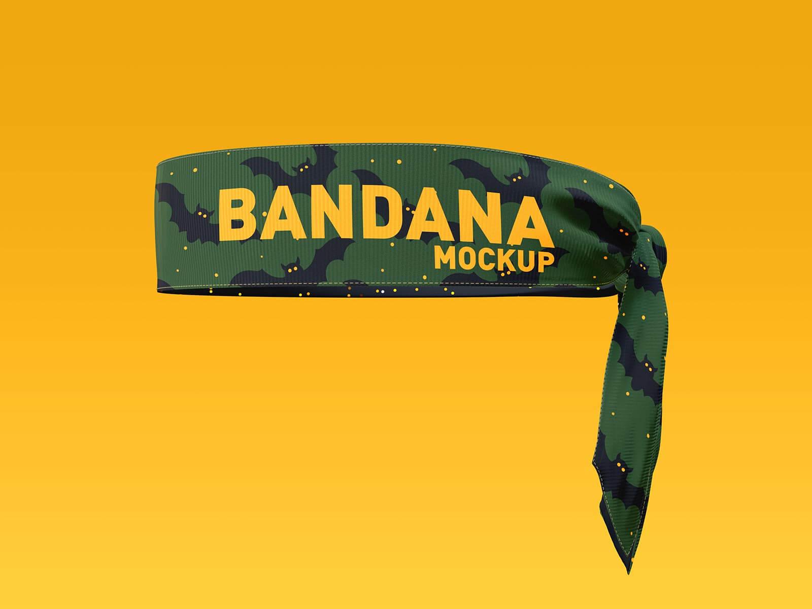 Free Bandana Mockup PSD Set