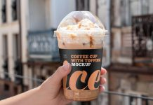 Free-Cold-Beverage-Juice-Cup-With-Dome-Lid-Mockup-PSD