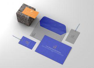 Free Envelope, Business & ID Card Mockup PSD