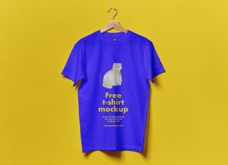Free-Hanging-T-Shirt-Mockup-PSD