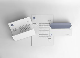 Free Letterhead & Envelope Mockup PSD