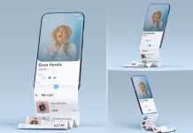 Free Long Stroll App Screen Mobile Mockup PSD Set