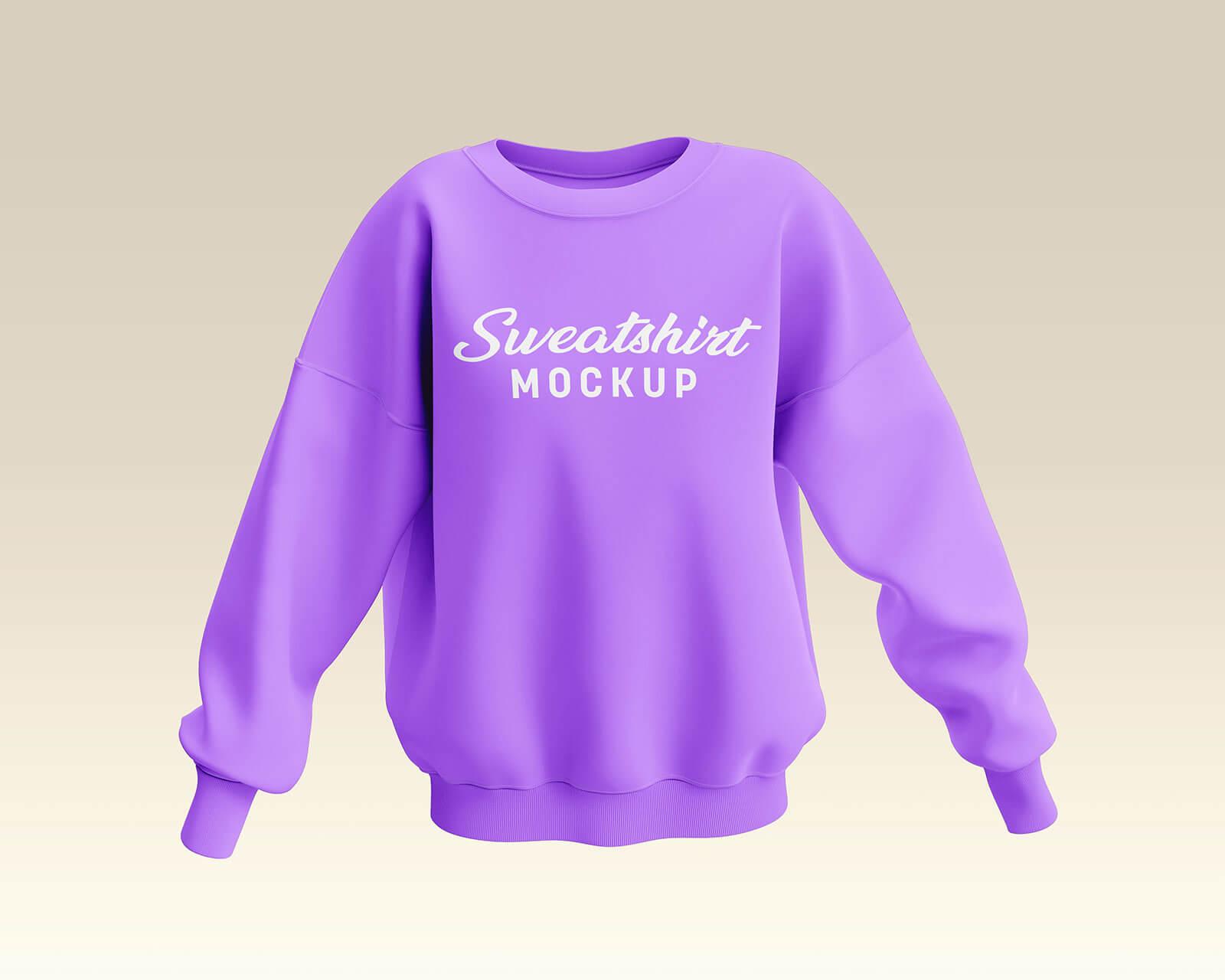 Free Women's Sweatshirt Mockup PSD Set