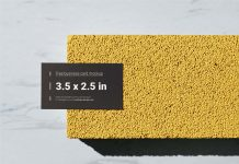 Free Business Card 3.5 x 2.5 Inches Mockup PSD