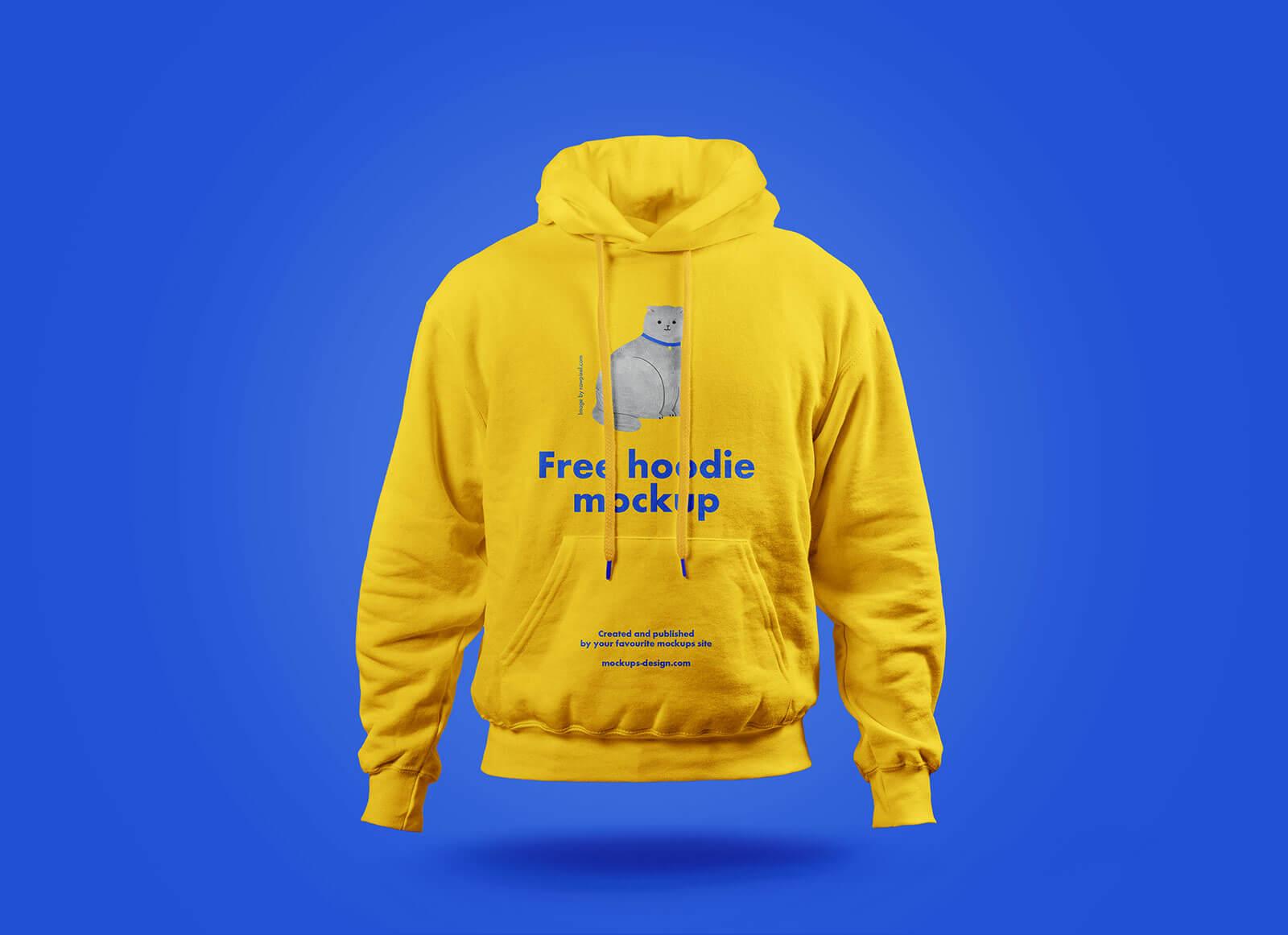 Free Full Sleeves Hoodie Mockup PSD