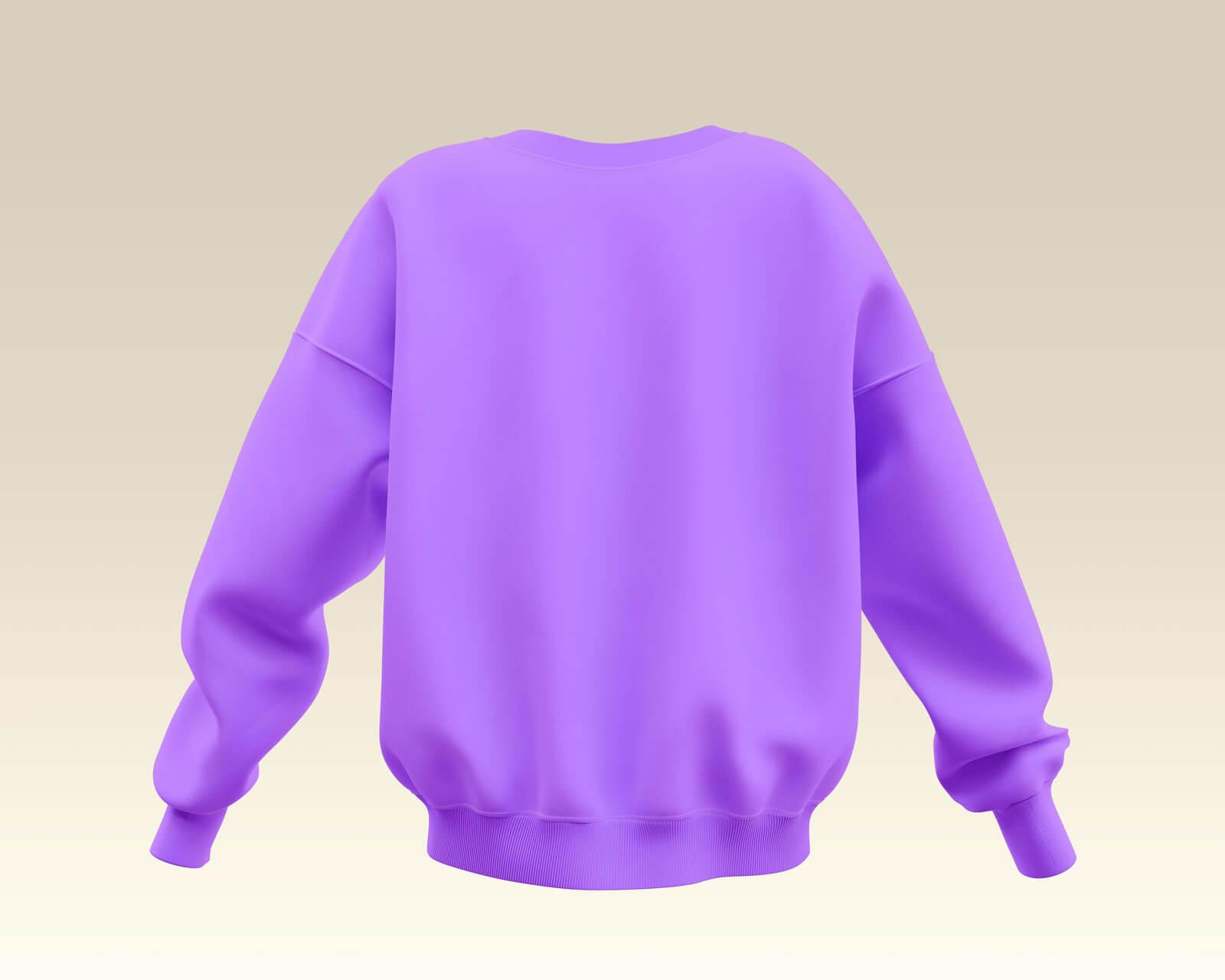 Free Women's Sweatshirt Mockup PSD Set (4)