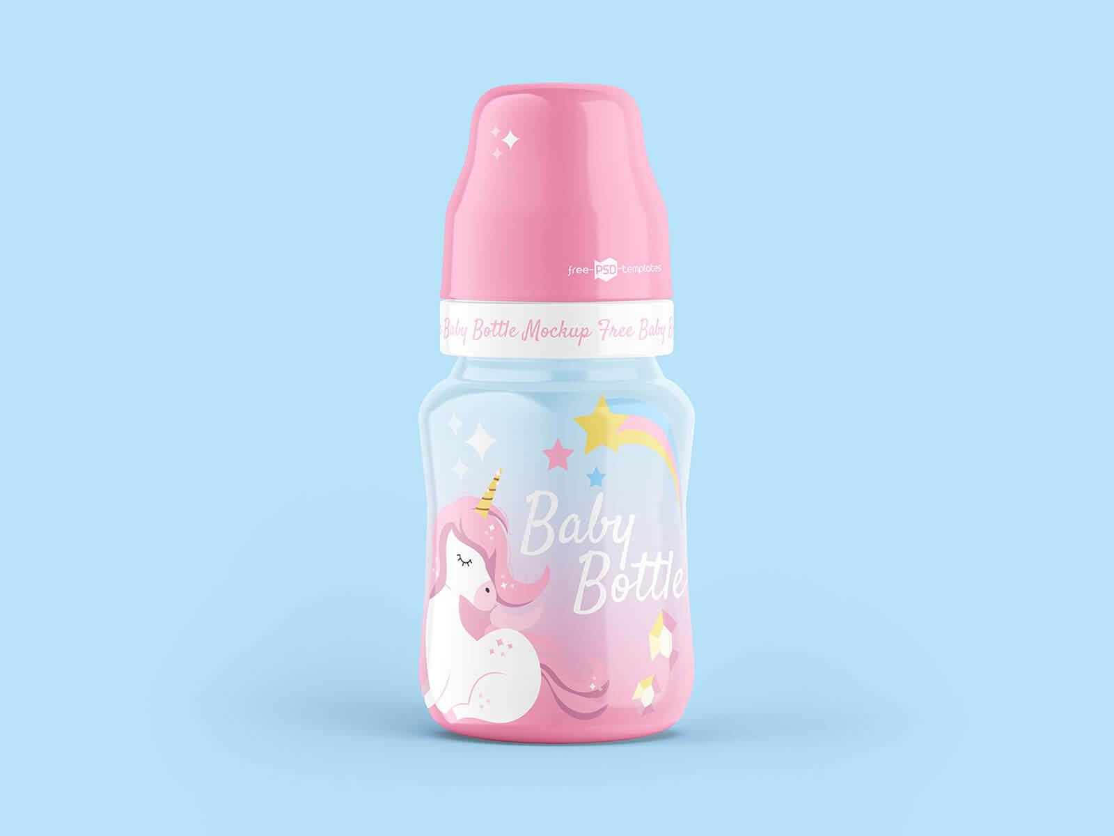 Free Baby Cereal Feeder Bottle Mockup PSD Set