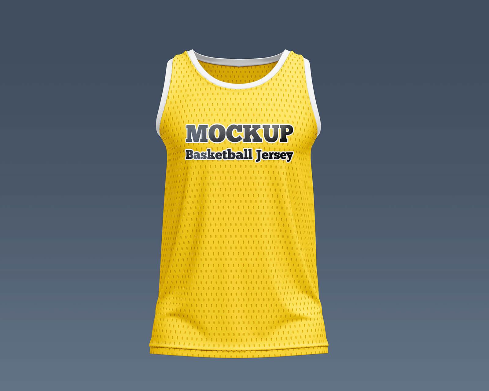 Free Basketball Jersey Mockup PSD Set