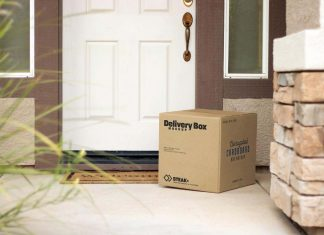 Free-Delivery-Box-At-The-Door-Step-Mockup-PSD