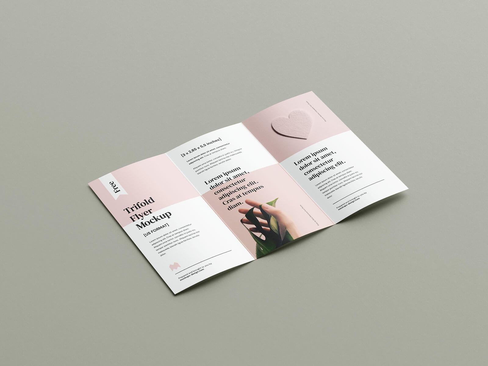 Free High Quality Bi-Fold Brochure Mockup PSD Set