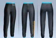 Free Loose Women's Sweatpants Mockup PSD Set