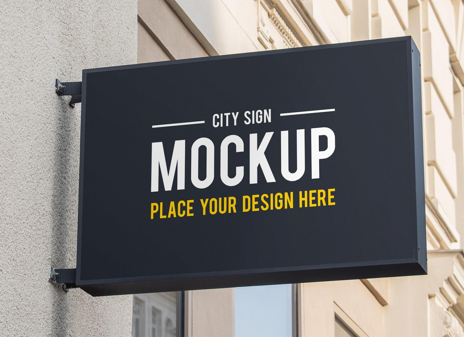 Free-Rectangle-Wall-Mounted-Signage-Mockup-PSD