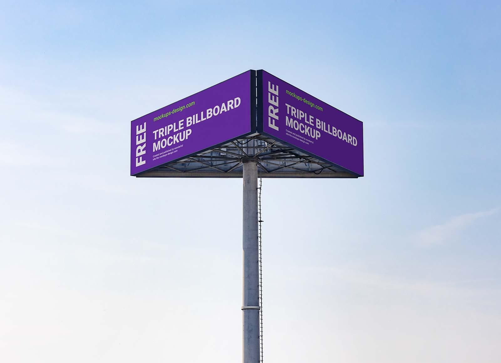 Free-Triple-View-Billboard-Mockup-PSD