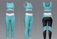 Free Women's Fitness Outfit (Clothes) Mockup PSD