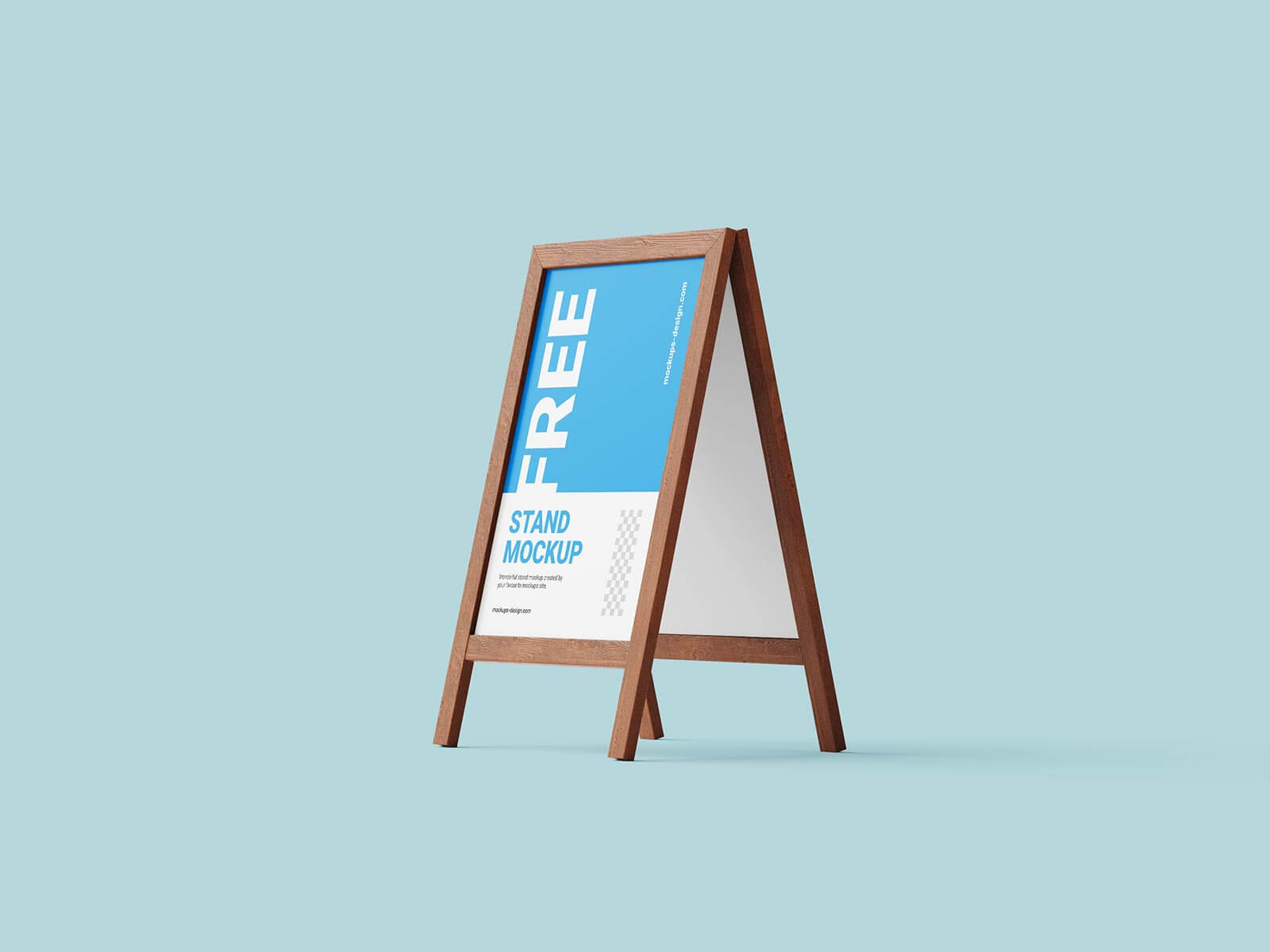 Free Wooden A-Stand Mockup PSD Set