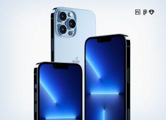 Free-iPhone-13-Pro-Max-Sigma,-Sketch-&-PSD-Mockup-Set