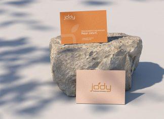 Free-Business-Card-On-A-Stone-Mockup-PSD