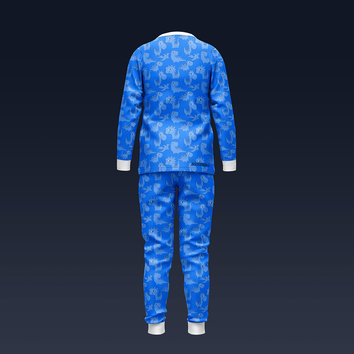 Free Children's Nightdress Sleepwear Pajamas Mockup PSD Set