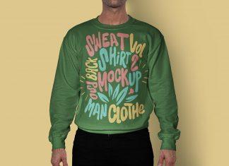 Free-Full-Sleeves-Men's-Sweatshirt-Mockup-PSD