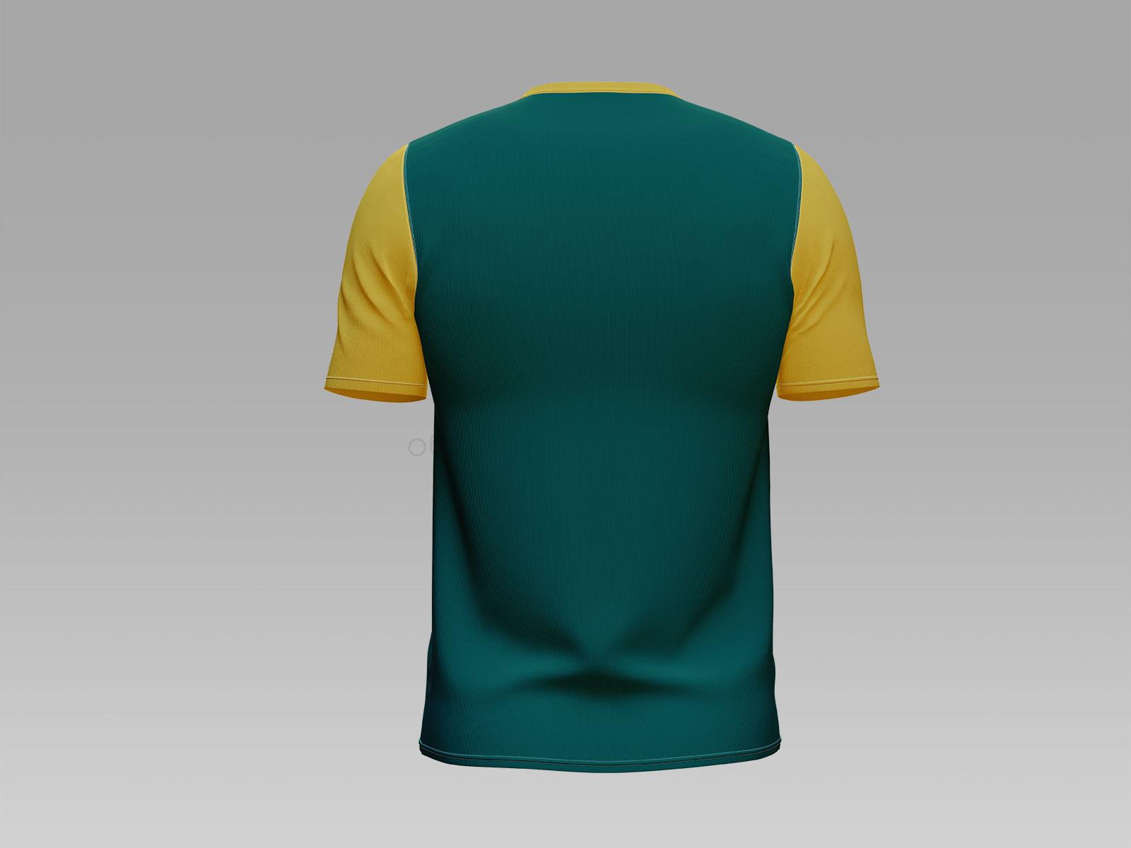 Free Henley Collarless Pullover T-Shirt Mockup PSD Set