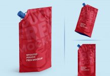 Free Stand Up Spouted Doypack Pouch Mockup PSD (4)